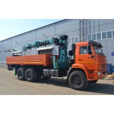 Бортовой КАМАЗ 43118 с КМУ НКТС 8026  с буровой установкой