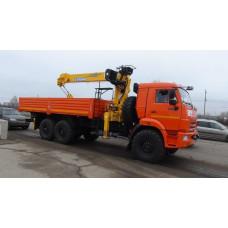 Бортовой КАМАЗ 43118 с КМУ Soosan SCS 746